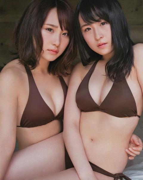 【AKB48】たかじゅりとさややのドスケベボディ(*´Д`)ハァハァ【高橋朱里・川本紗矢】