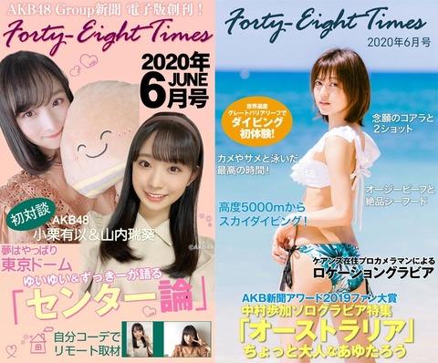 「AKB48Group新聞」電子版が「Forty-Eight Times」になってリニューアル、なお購入しても記事の公開期間が決まっている模様