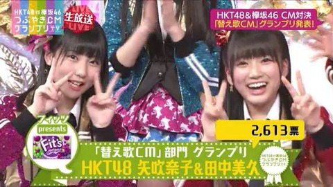 HKT48vs欅坂46「つぶやきCMグランプリ」3勝3敗の大健闘