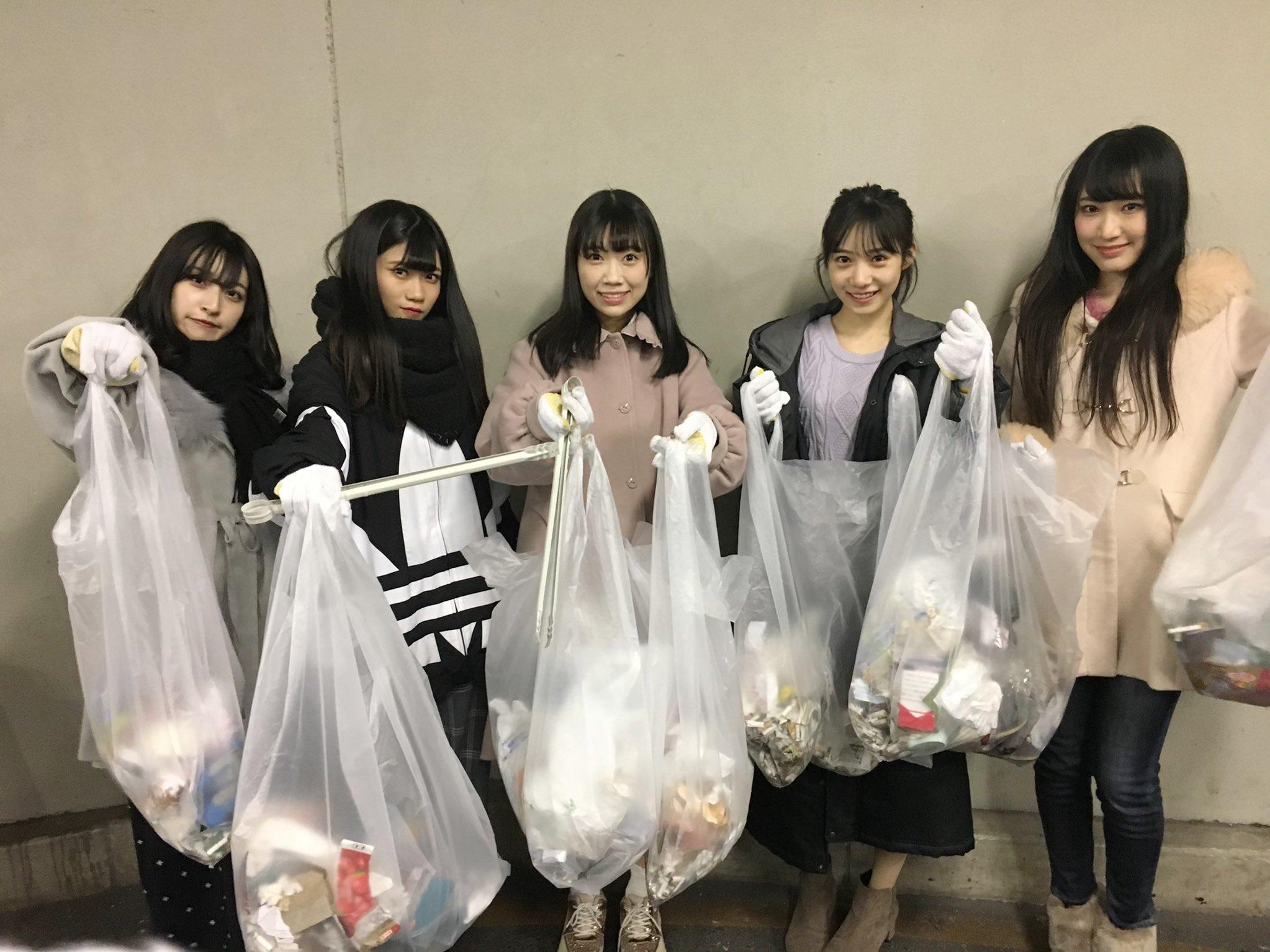 【NMB48】横野すみれ「難波お掃除してきました!ゴミたくさん、かなしい」