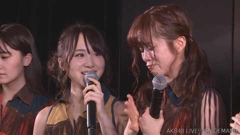 【AKB48】 高橋朱里の言葉に号泣きする飯野雅