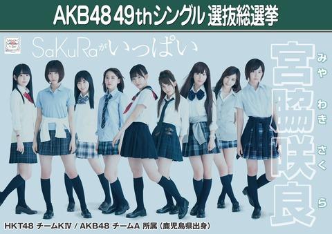 【HKT48】宮脇咲良の選挙公約候補がどれも金が掛かりそう・・・