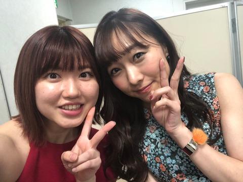 【SKE48】アイドル界の二大巨星、あかりん×アカリンがツーショット写真!【須田亜香里】