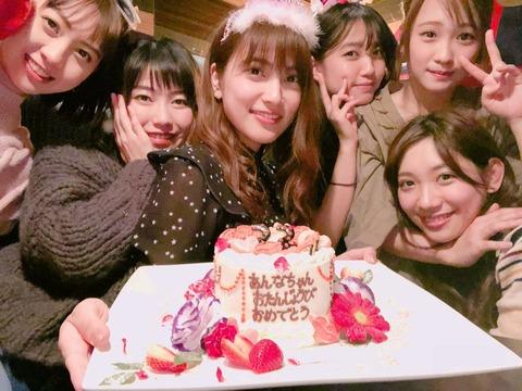 【AKB48】入山杏奈の誕生日パーティーに集まったメンツがこちらwww