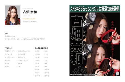 【SKE48】古畑奈和「目標は神7だけど、公約やりたいから公約順位は選抜にした」