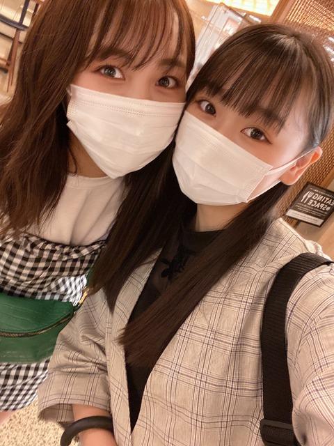 【朗報】NMB48泉綾乃が山本彩加と再会!!!