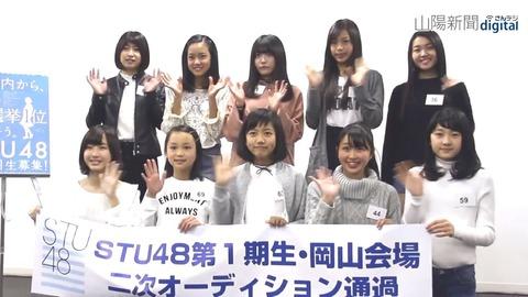 【STU48】オーディション第二次審査合格者発表!!!