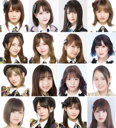 【AKB48G】一般受けしそうなメンバーだけで選抜組んでみた