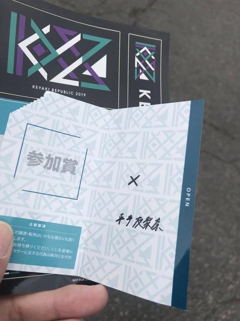 【欅坂46】平手友梨奈様より会場限定くじに外れたケヤキッズへ大切なメッセージ