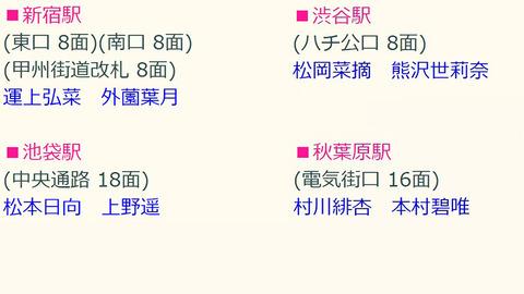 AKB48が何もしない間にHKT48が首都圏の駅に進出!!!