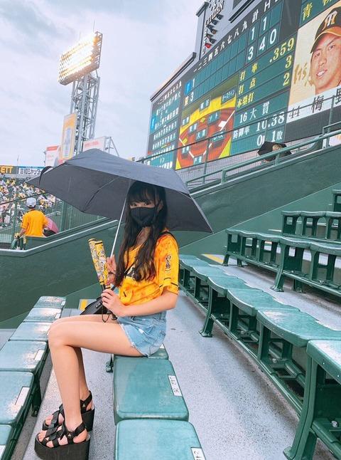 【NMB48】甲子園球場にとんでもない美少女JCが現れる【岡本怜奈】
