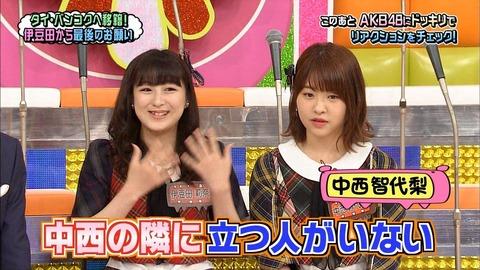 なぜ中西智代梨はHKT48からAKB48に移籍してから面白くなくなったのか?