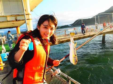 【HKT48】矢吹奈子ちゃんが初めての釣りでフグが釣れる!!!