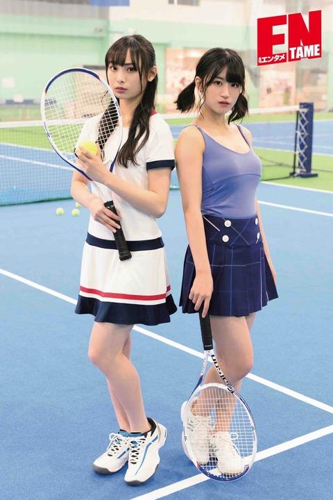 【NMB48】上西怜ちゃんだけエロい格好でテニスをさせられてしまうwww