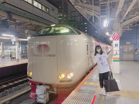 【STU48】瀧野由美子ちゃん、寝台列車に乗る