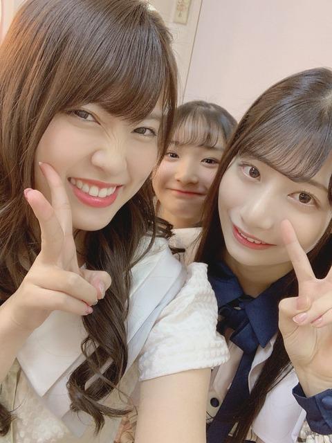 【悲報】岡部麟さん、鈴木優香ちゃんと写真撮って笑顔が歪むwww【チーム8】
