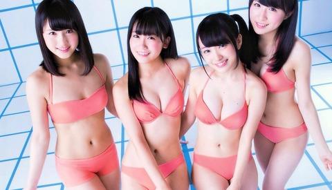 【AKB48】支店ヲタ共よ泣け!これが本店が誇る次世代TOP4の水着姿だっ!