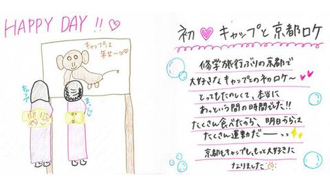 【狸報】こじまこが書いた絵wwwwww【AKB48・小嶋真子】