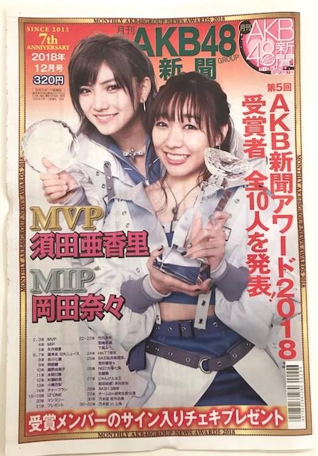 【AKB48新聞】2018年AKBGMVPに須田亜香里!