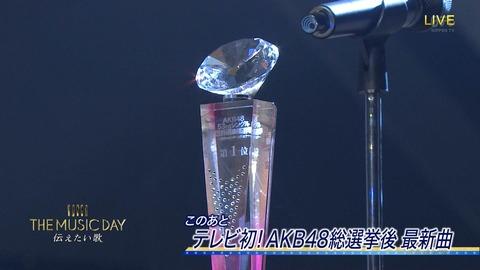 【AKB48】総選挙1位の松井珠理奈はトロフィーのみの出演となります