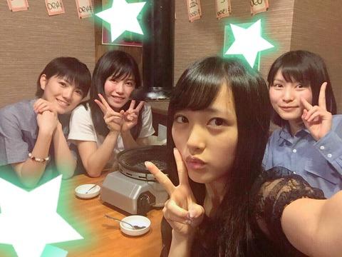 【AKB48】横山由依が後輩メンバーに焼肉を奢って手懐けるwww