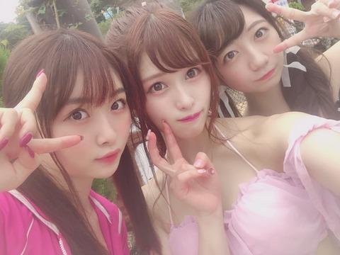 【AKB48】達家真姫宝、田北香世子、高橋希良の水着プール写真キタ━━━━(゚∀゚)━━━━!!