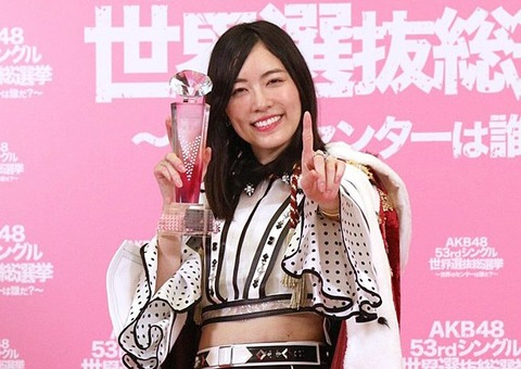 【SKE48】松井珠理奈のファンが総選挙の態度に苦言「もしよかったら読んでくれると嬉しいです」