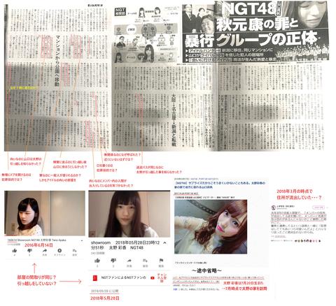 【NGT48暴行事件】太野彩香と西潟茉莉奈を終わらせたのは全力擁護した文春www