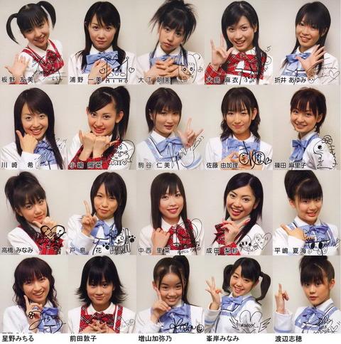 【悲報】AKB48の初期メンバー、全然可愛くない