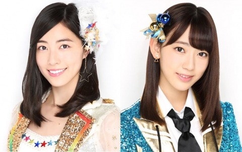 SKE48専任の松井珠理奈さん、AKB48表題曲とC/Wでセンターにwww