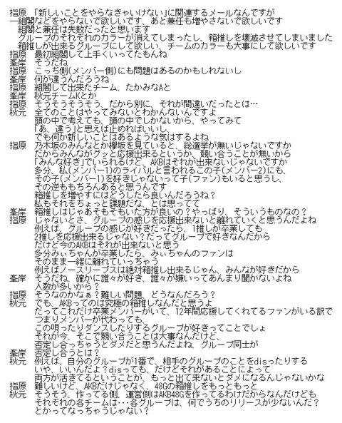 【ANN】秋元康「運営は48グループを経営しているわけで支店センターは当然だしグループ間でdisるのも間違い」