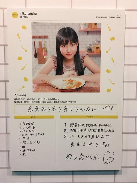 【HKT48】みくりんの脱ぎたてパンツを皿にしてカレー食べれる?【田中美久】