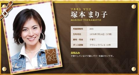 大人AKB48は塚本まり子さんに決定!