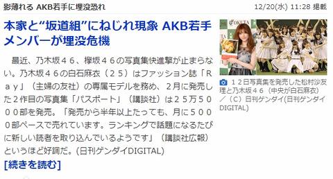 【AKB48】ヤフートップに純AKB待望論