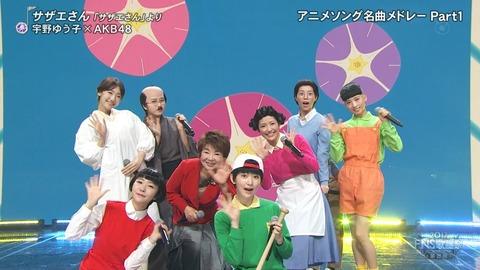 【AKB48】FNS歌謡祭で披露したサザエさんコスが酷いwwwwww