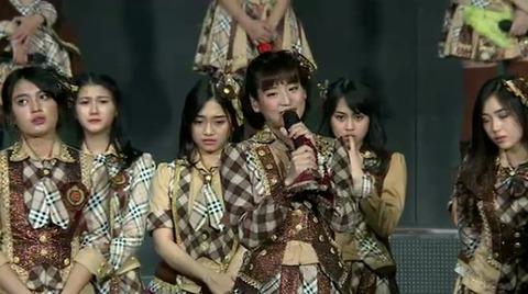 【JKT48】はるごんこと仲川遥香、リクアワに卒業発表。卒業後もインドネシアに残る模様
