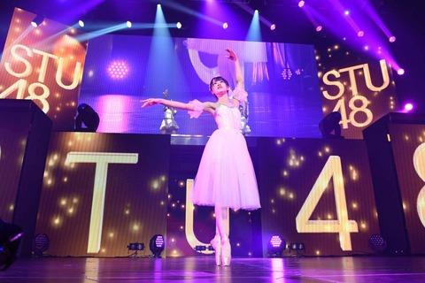 【STU48】中村舞ちゃんのバレエが美しすぎる