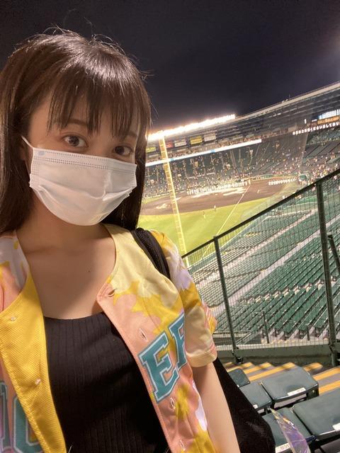 【朗報】関西テレビ「プロ野球中継 阪神×巨人」のゲストにNMB48川上千尋が登場!