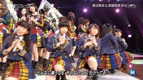 【Mステ】別衣装組が全然カメラに抜かれなかったわけだが【AKB48・希望的リフレイン】