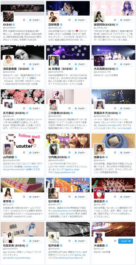【Twitter】SKE48のフォロワーの少なさを見てると少数のヲタが頑張ってるんだなと思う