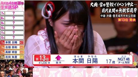 【NGT48】本間日陽ってせっかく選抜に入ったのに完全に空気だな