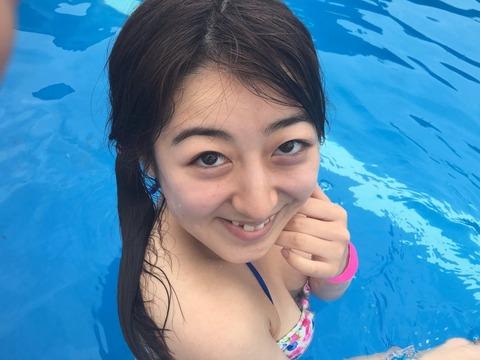 【AKB48】流石に水着姿のいずりなと二人っきりになったらお前らだって・・・ねぇ。【伊豆田莉奈】