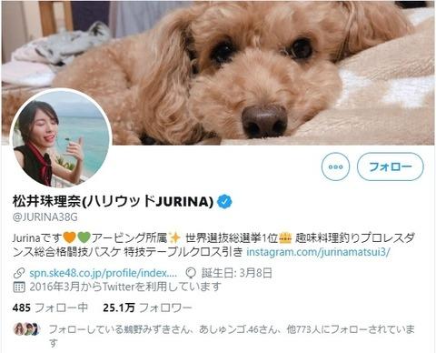 松井珠理奈の世界選抜総選挙1位ってツイのプロフは指原に喧嘩売ってるのかな?