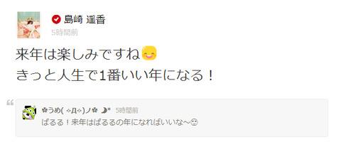 【AKB48】ぱるる「来年はきっと人生で1番いい年になる」【島崎遥香】