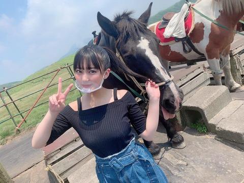 【画像】馬なのか牛なのかはっきりしろよwwwwww【HKT48・田中美久】