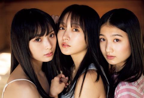 NMB48きっての美少女トリオ・山本彩加&梅山恋和&塩月希依音