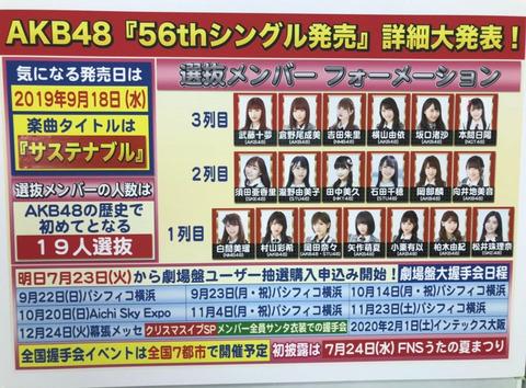 【AKB48bt48】正直この選抜メンバーではミリオン売れないだろうと感じた地下民