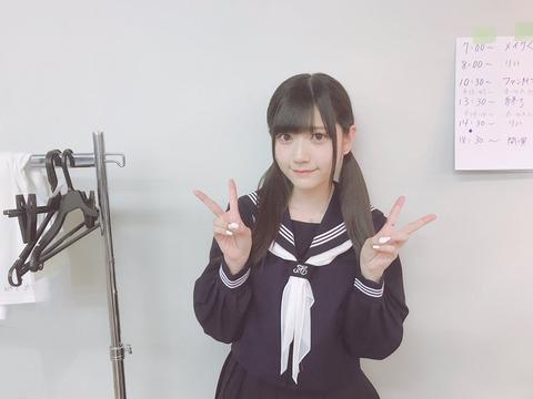【HKT48】山田麻莉奈(22)のセーラー服姿が超絶可愛いと話題に!!!