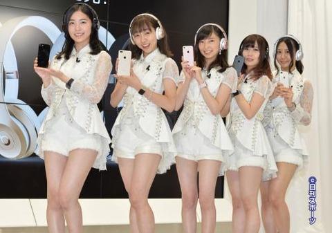【SKE48】iPhone7発売記念イベントに松井、須田、高柳、大矢、古畑が「アイフォーン7選抜」として登場