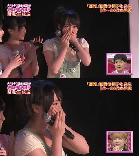 【AKB48G】速報で一番びびったメンバーって誰?【総選挙】